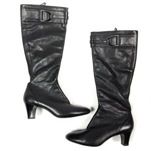 Cole Haan Nike Air Heeled Black Boots